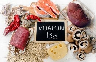 witamina B 12 - produkty takie jak mięso, łosoś itp