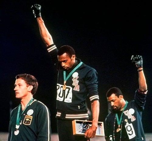Manifestacja Czarnej Siły podczas Olimpiady w 1968 r.