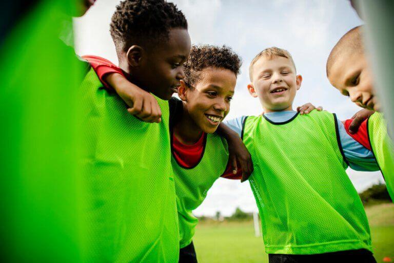 Młodzi piłkarze