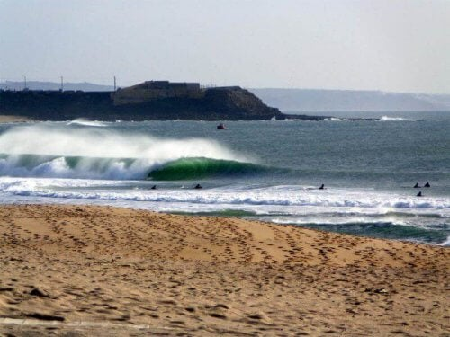 Najlepsze plaże Supertubos Portugalia