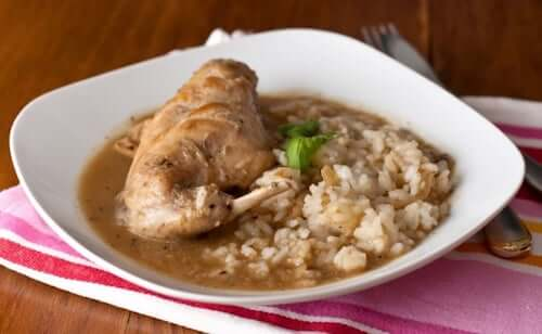 królik z ryżem