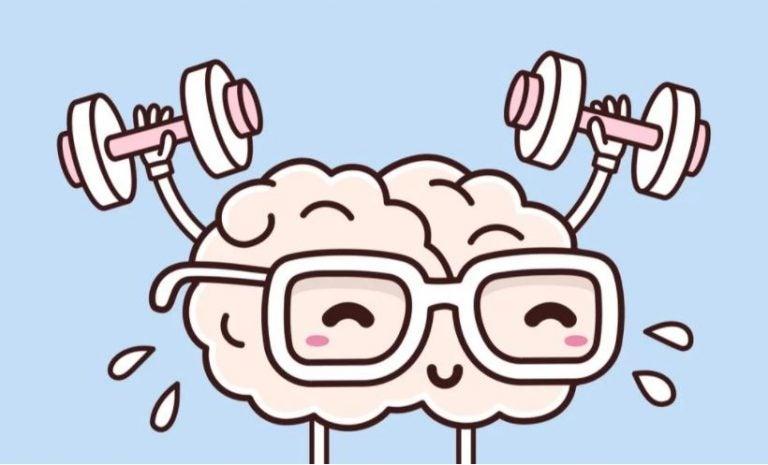 Cérebro levantando peso