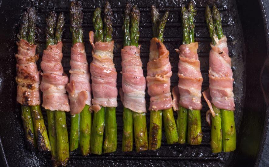 Aspargos com bacon