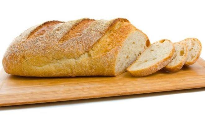 Pão cortado
