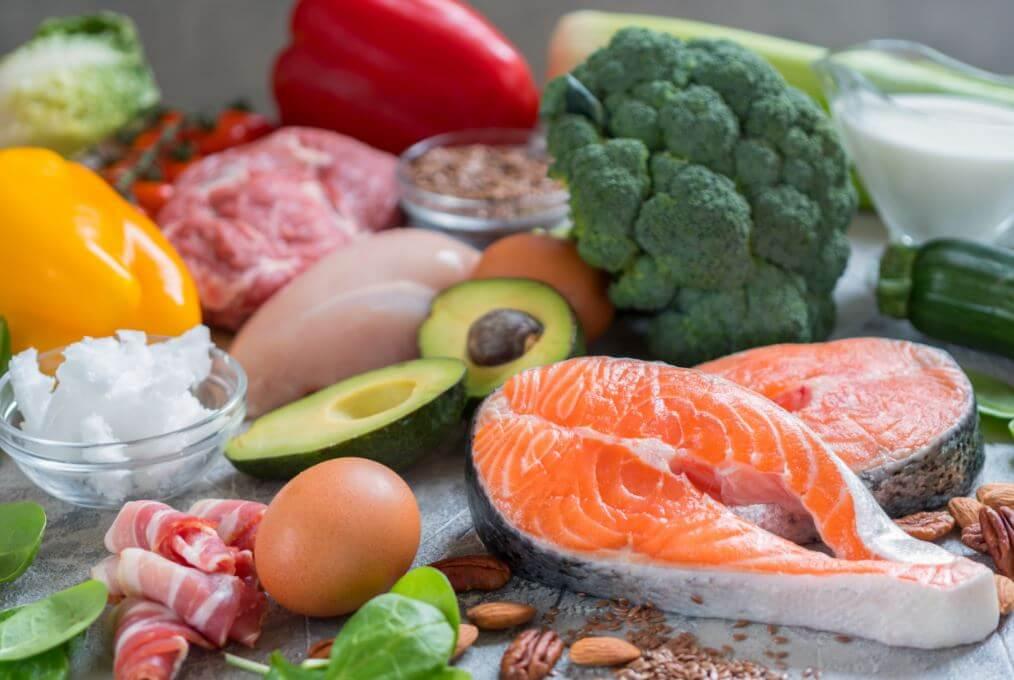 Vários alimentos saudáveis