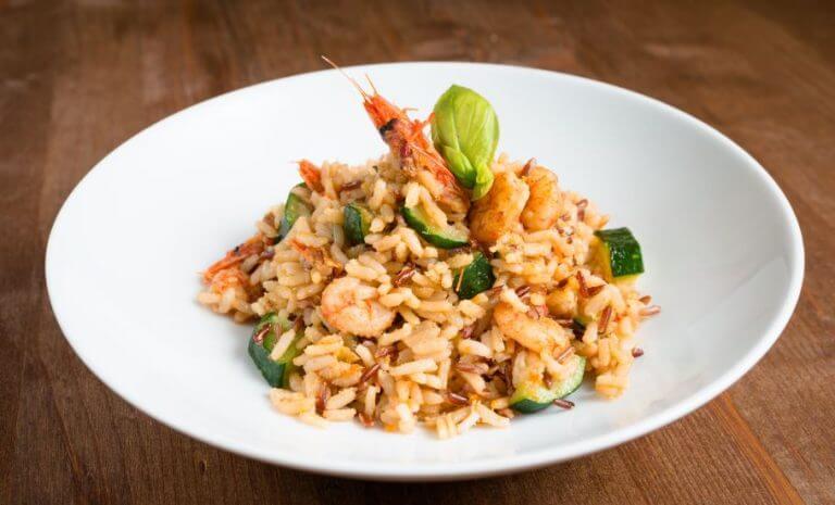 risoto de camarão com abobrinha