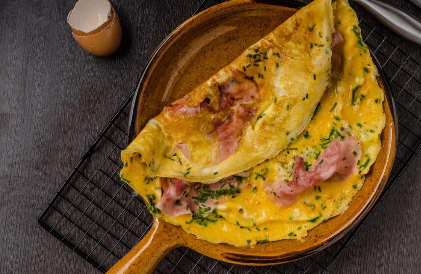Omelete com presunto