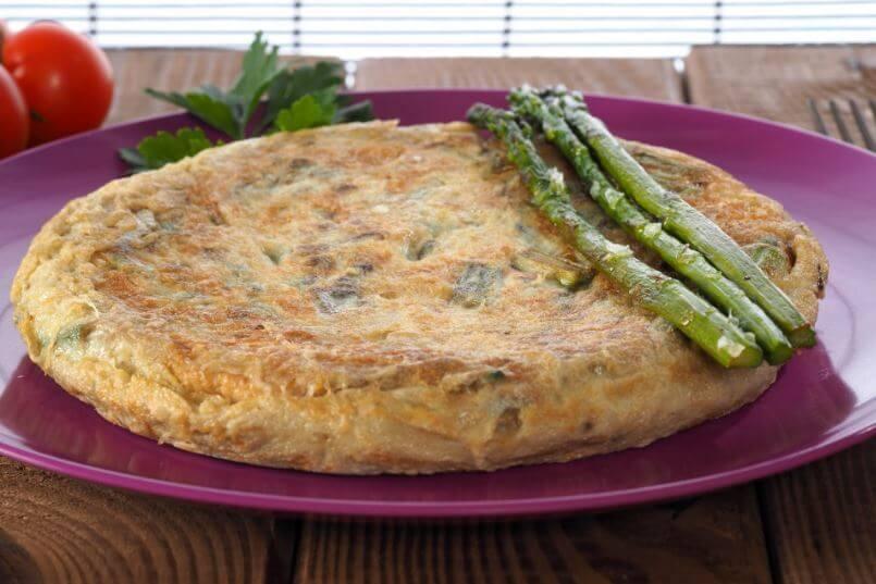 Omelete de aspargos trigueiros
