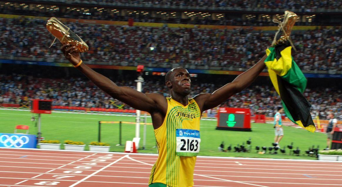 Bolt em uma prova de atletismo