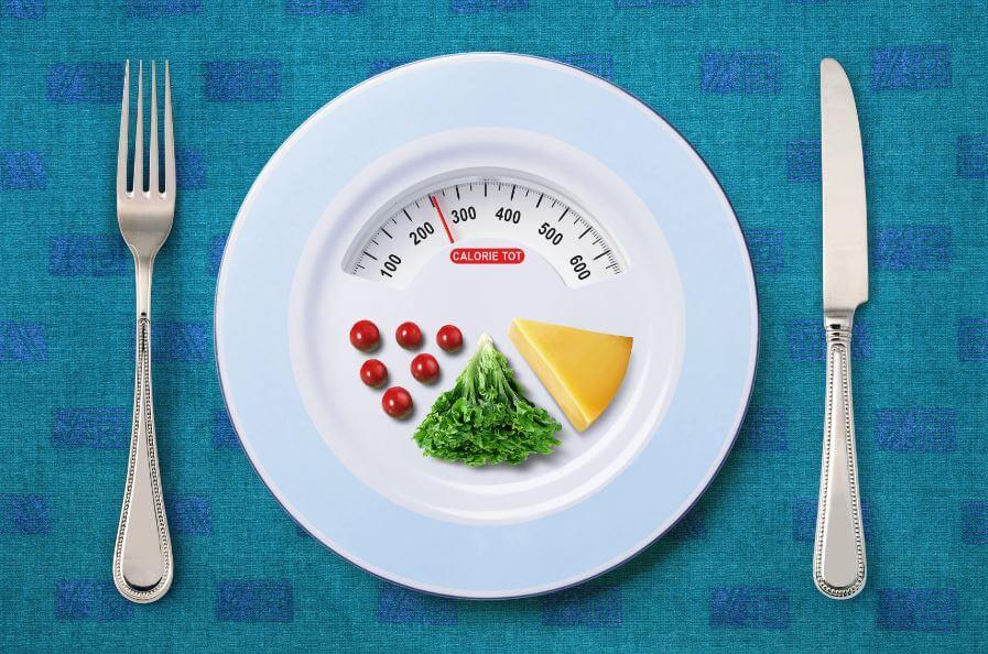 um prato com indicadores de balança