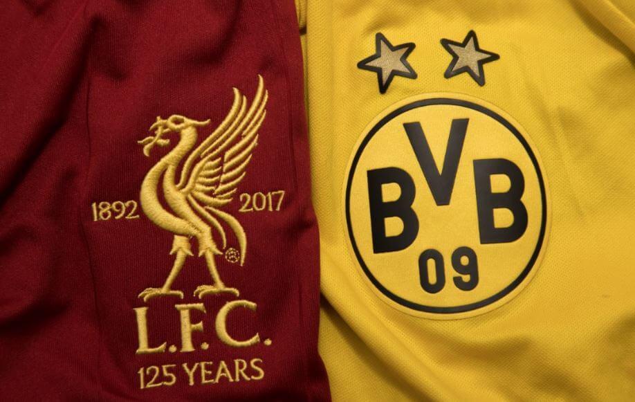 Camisas do Borussia e Liverpool