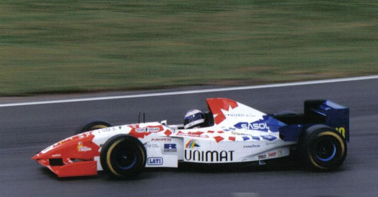 Carro de piloto da fórmula 1