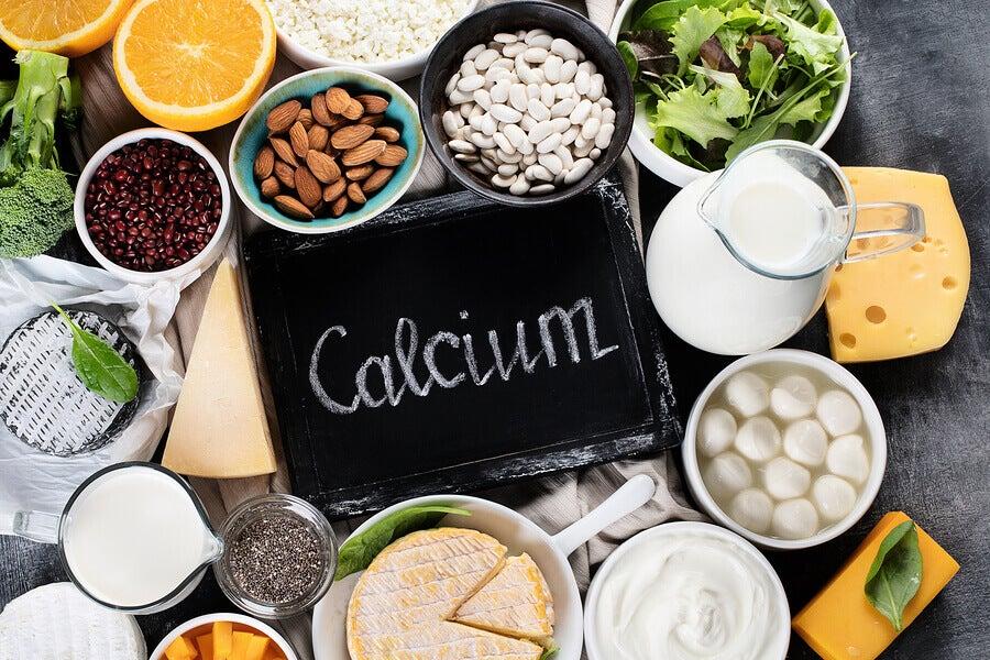 Alimentos com uma grande quantidade de cálcio