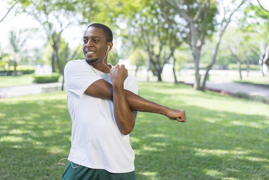 Alongamento da cápsula posterior e dos músculos romboides