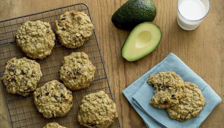 Biscoitos de abacate