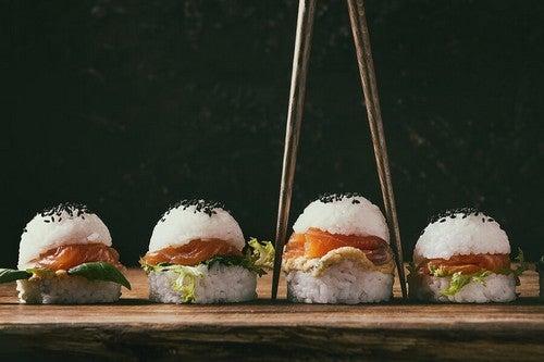 Hambúrguer japonês de arroz