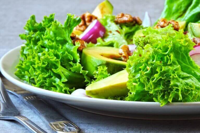 Salada, o mais simples entre os pratos com abacate