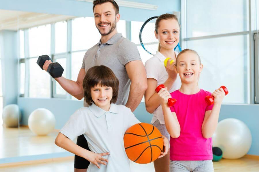 Exercitar-se com a família: mais diversão