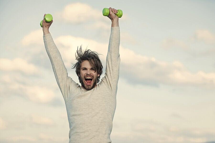 O esporte estimula a liberação de endorfinas
