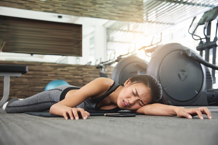 O que é uma fadiga súbita durante o exercício físico?