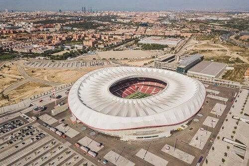 O estádio Wanda Metropolitano é um dos maiores estádios da Espanha e também um dos mais modernos