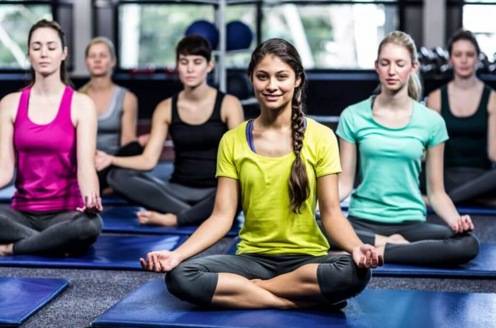 Meditação na aula de Yoga