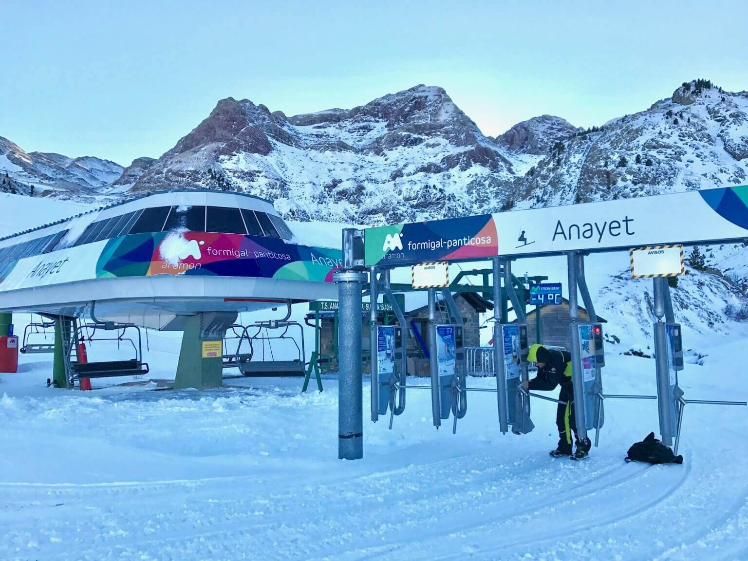 A estação de esqui de Formigal-Panticosa na Espanha.