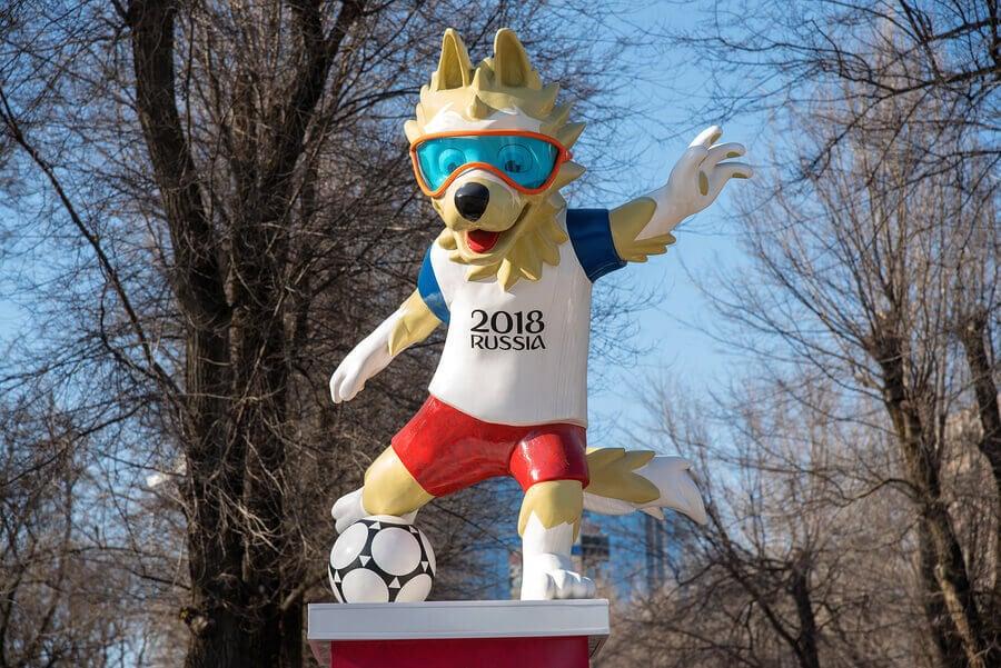 Os mascotes da Copa do Mundo de futebol
