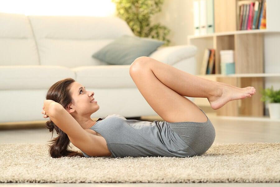 Treino de abdominais para fazer em casa