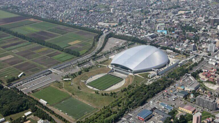 O Sapporo Dome é outro dos estádios de futebol das Olimpíadas de Tóquio.