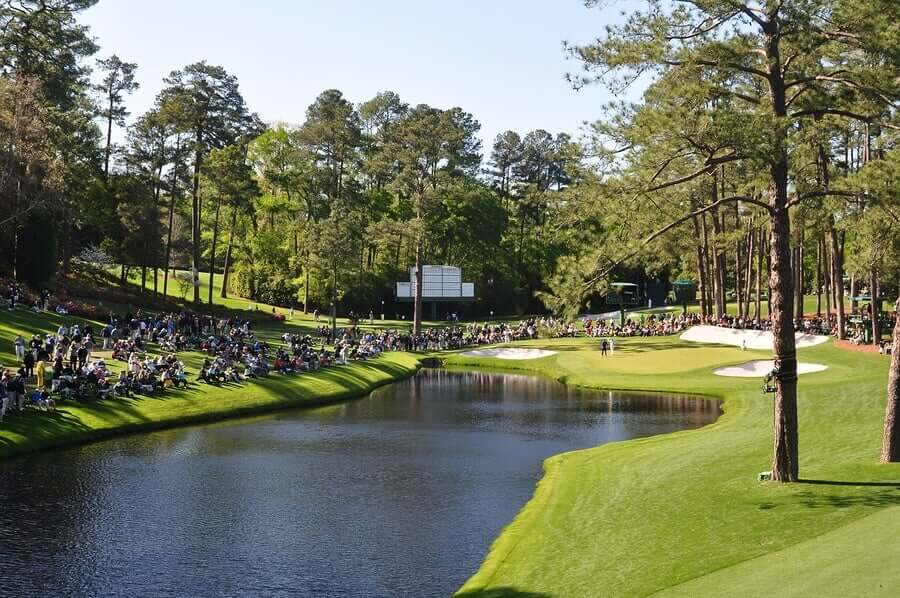 O Masters de Augusta, um dos majors do golfe