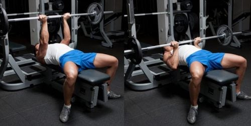 bench press yapan adam