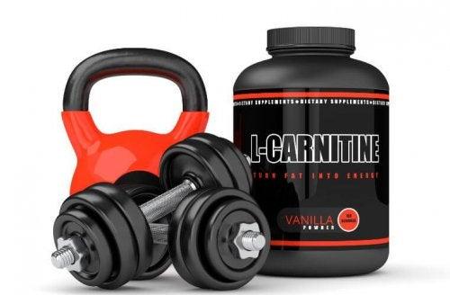 L-karnitin ve çeşitli ağırlıklar