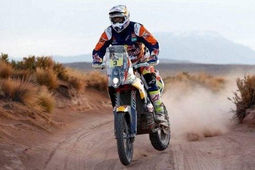 Dakar Rallisi'nde Motosiklet.