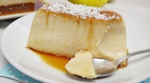 hindistan cevizli elmalı flan