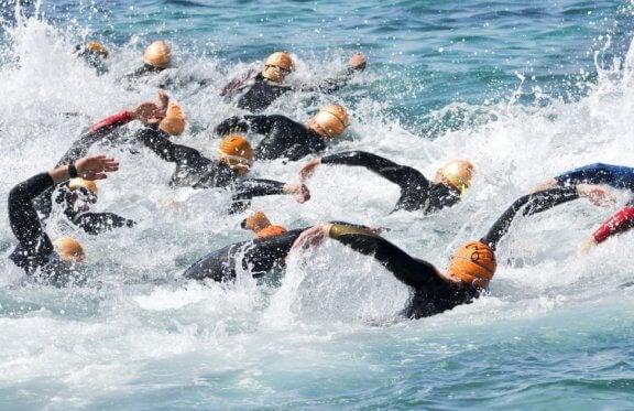 triatlonda yüzme
