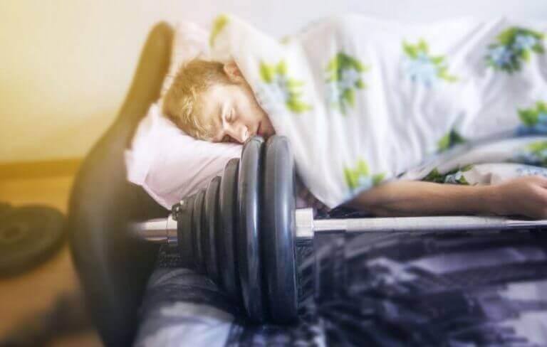 uyuyan sporcu
