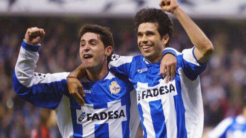 Bir Coruña maçından bir kare.