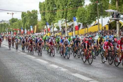 tour de france yarışından bir kare