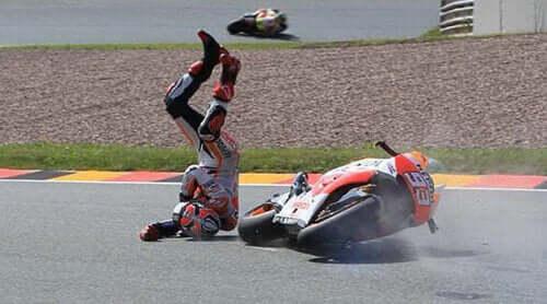 Motor sporlarında kazalar.