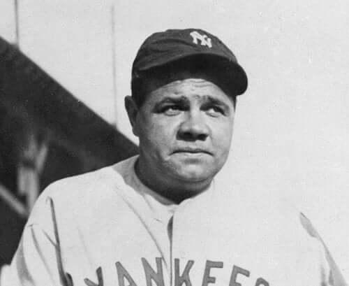 Babe Ruth'un bir fotoğrafı.