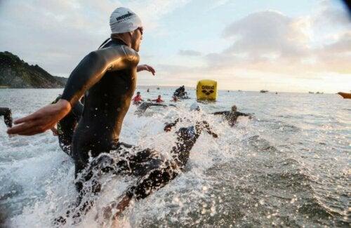 Ironman yarışları sırasında çekilmiş bir fotoğraf.