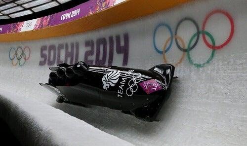 bobsled yarışlarından bir sahne