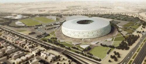 Al Thumama Stadyumu.