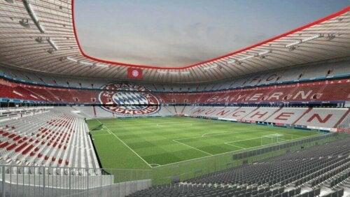 Allianz Arena'nın içi.