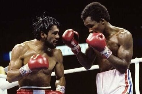 Duran ve Leonard arasındaki bir boks maçı.