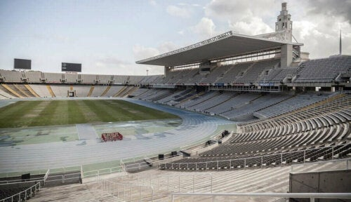 Lluis Companys Olimpiyat Stadyumu.