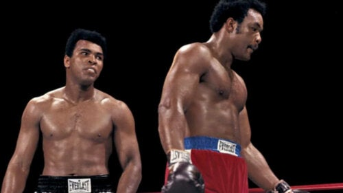 Mohammad Ali ve George Foreman.