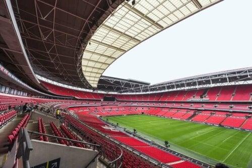 Wembley Stadyumunun içi.