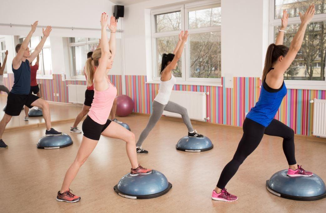 People doing aerobic exercise